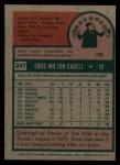 1975 Topps #247  Enos Cabell  Back Thumbnail