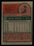 1975 Topps #286  Mike Jorgensen  Back Thumbnail