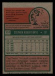 1975 Topps Mini #151  Steve Brye  Back Thumbnail