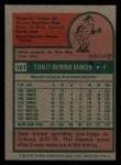1975 Topps Mini #161  Stan Bahnsen  Back Thumbnail