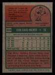 1975 Topps Mini #264  John Milner  Back Thumbnail