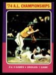 1975 Topps Mini #459   AL Championships Front Thumbnail