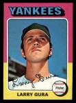 1975 Topps Mini #557  Larry Gura  Front Thumbnail