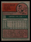 1975 Topps Mini #557  Larry Gura  Back Thumbnail