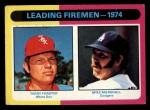 1975 Topps Mini #313   -  Mike Marshall / Terry Forster Leading Firemen Front Thumbnail