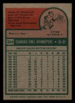 1975 Topps Mini #324  Ed Kranepool  Back Thumbnail