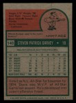 1975 Topps Mini #140  Steve Garvey  Back Thumbnail