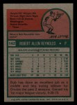 1975 Topps Mini #142  Bob Reynolds  Back Thumbnail