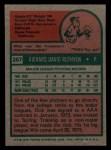 1975 Topps Mini #267  Dick Ruthven  Back Thumbnail
