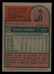 1975 Topps Mini #286  Mike Jorgensen  Back Thumbnail