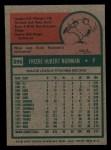 1975 Topps Mini #396  Fred Norman  Back Thumbnail