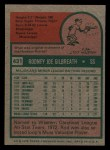 1975 Topps Mini #431  Rod Gilbreath  Back Thumbnail