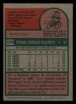 1975 Topps Mini #523  Tom Paciorek  Back Thumbnail