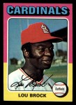 1975 Topps Mini #540  Lou Brock  Front Thumbnail
