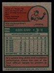 1975 Topps Mini #555  Al Oliver  Back Thumbnail