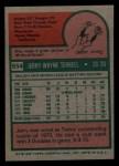 1975 Topps Mini #654  Jerry Terrell  Back Thumbnail
