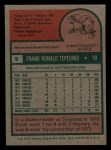 1975 Topps Mini #9  Frank Tepedino  Back Thumbnail