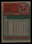 1975 Topps Mini #66  Willie Horton  Back Thumbnail