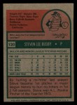 1975 Topps Mini #120  Steve Busby  Back Thumbnail