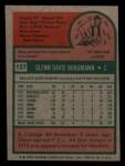 1975 Topps Mini #127  Glenn Borgmann  Back Thumbnail