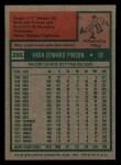 1975 Topps Mini #295  Vada Pinson  Back Thumbnail