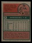 1975 Topps Mini #38  Buddy Bell  Back Thumbnail