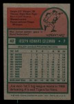 1975 Topps Mini #42  Joe Coleman  Back Thumbnail