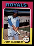 1975 Topps Mini #95  John Mayberry  Front Thumbnail