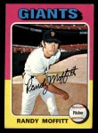 1975 Topps Mini #132  Randy Moffitt  Front Thumbnail