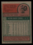 1975 Topps Mini #177  Vic Correll  Back Thumbnail