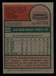 1975 Topps Mini #282  Jerry Morales  Back Thumbnail