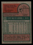1975 Topps Mini #399  Terry Harmon  Back Thumbnail