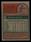 1975 Topps Mini #413  Marty Pattin  Back Thumbnail