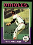 1975 Topps #491  Doyle Alexander  Front Thumbnail