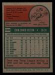 1975 Topps Mini #509  Dave Hilton  Back Thumbnail