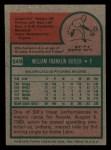 1975 Topps Mini #549  Bill Butler  Back Thumbnail