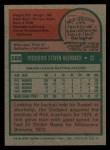 1975 Topps #588  Rick Auerbach  Back Thumbnail