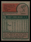 1975 Topps #627  Tom Walker  Back Thumbnail