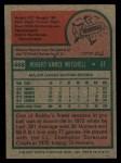 1975 Topps #468  Bobby Mitchell  Back Thumbnail