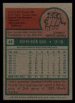 1975 Topps #45  Joe Rudi  Back Thumbnail