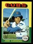 1975 Topps #15  Jose Cardenal  Front Thumbnail