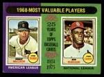 1975 Topps #206   -  Denny McLain / Bob Gibson 1968 MVPs Front Thumbnail
