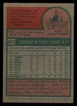 1975 Topps #527  Mac Scarce  Back Thumbnail