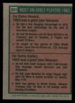 1975 Topps #201   -  Elston Howard / Sandy Koufax 1963 MVPs Back Thumbnail