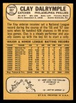 1968 Topps #567  Clay Dalrymple  Back Thumbnail