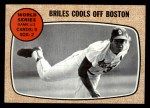 1968 Topps #153   -  Nelson Briles 1967 World Series - Game #3 - Briles Cools Off Boston Front Thumbnail
