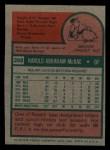 1975 Topps Mini #268  Hal McRae  Back Thumbnail