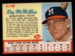 1962 Post #148  Roy McMillan   Front Thumbnail