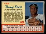 1962 Post #105  Tommy Davis   Front Thumbnail