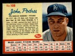 1962 Post #108  Johnny Podres   Front Thumbnail